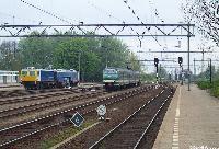 Stopmachine van Volker & Stevin naast 419  |  Geldermalsen  |  24 april 2004