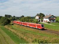 Twee DB-treinstellen Baureihe 612  |  Aitrang (D)  |  17 augustus 2006   [352 kB]
