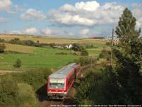 DB-treinstel 628 448  |  Großenlüder (D)  |  18 augustus 2006   [296 kB]